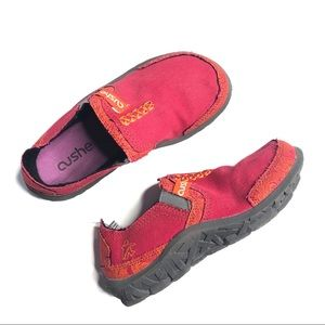 Cushe Red Tropic Kids Slip On Shoes, Youth size 1